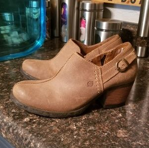 New Born brown leather ankle booties 8.5